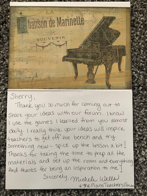 Piano In Action testimonial